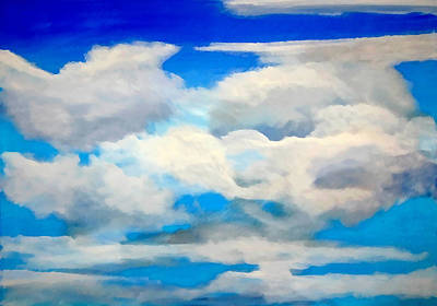 Cloud Study Art Print by Donna Proctor