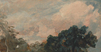 Painting - Cloud Study With Trees by John Constable