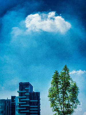 Photograph - Cloud Tree Buildings by Silvia Ganora