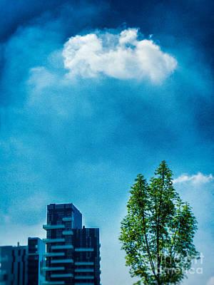 Photograph - Cloud Tree Buildings by Silvia Ganora
