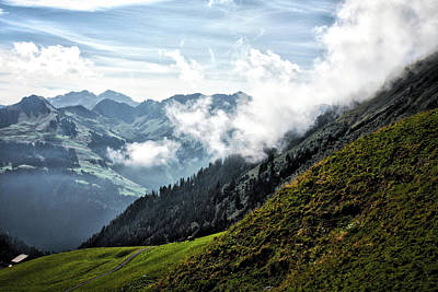 Bregenzer Wald Photograph - Cloud Weather In The Alps by Martin Beikirch