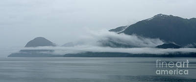 Cloud-wreathed Coastline Inside Passage Alaska Art Print