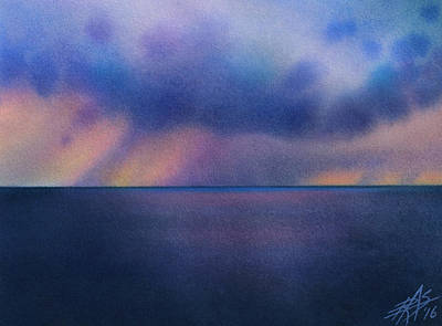 Painting - Cloudburst At Sea by Robin Street-Morris