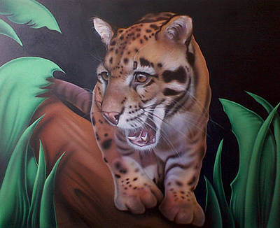 Endangered Painting - Clouded Leopard by BC Leedy