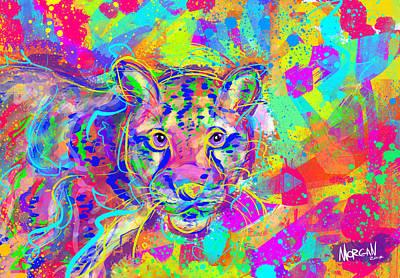 Artichoke Digital Art - Clouded Leopard  by Morgan Richardson