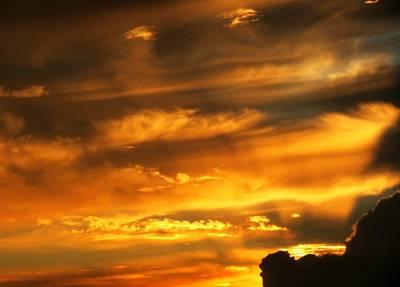 Clouded Sunset Art Print