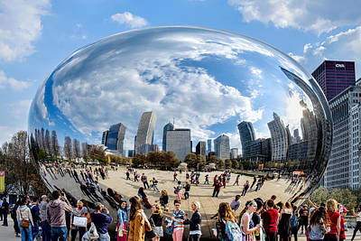 Photograph - Cloudgate And Crowds by John McArthur