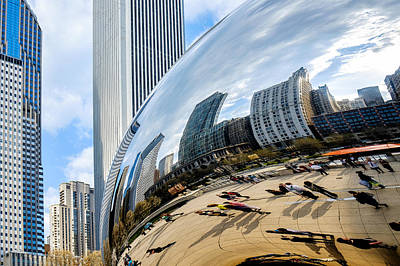 Photograph - Cloudgate And Skyscrapers by John McArthur