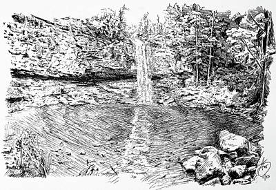 Drawing - Cloudland Canyon by Anthony Brooks