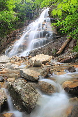 Photograph - Cloudland Falls White Mountains by John Burk
