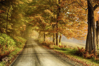 Photograph - Cloudland Road In Vermont by Jeff Folger