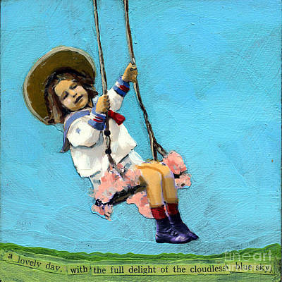 Swing Painting - Cloudless Sky by Linda Apple