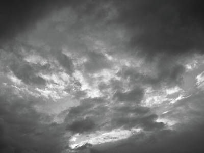 Photograph - Clouds 1 Bw #f7 by Leif Sohlman