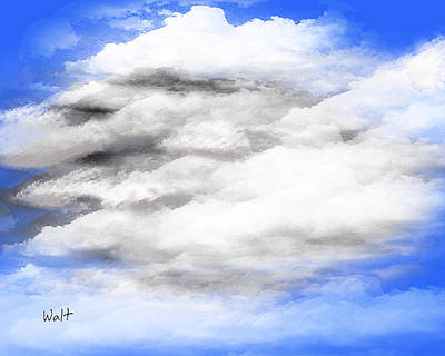Print featuring the digital art Clouds 2 by Walter Chamberlain
