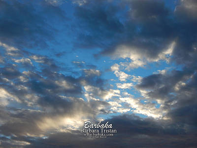 Photograph - Clouds #4027 by Barbara Tristan