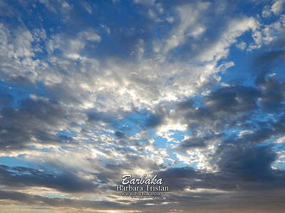 Photograph - Clouds #4049 by Barbara Tristan