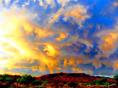 Photograph - Clouds Above Black Mountain Abiquiu by Anastasia Savage Ealy