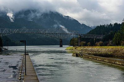 Photograph - Clouds Above Cascade Locks by Tom Cochran