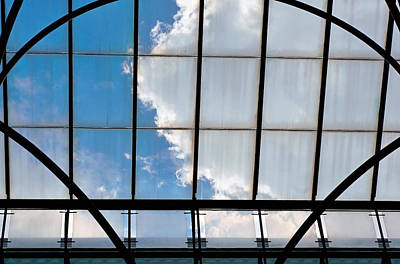 Clouds Above Glass Art Print by Deb Zulawski