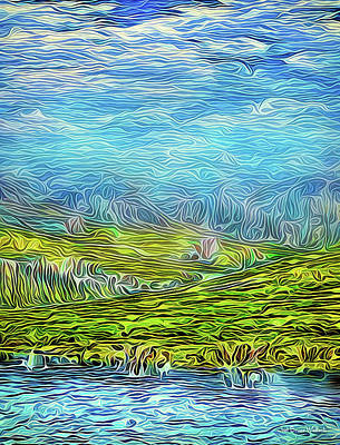 Digital Art - Clouds Above Golden Hills by Joel Bruce Wallach