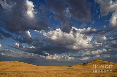 Photograph - Clouds Above Golden Hillside by Jim And Emily Bush