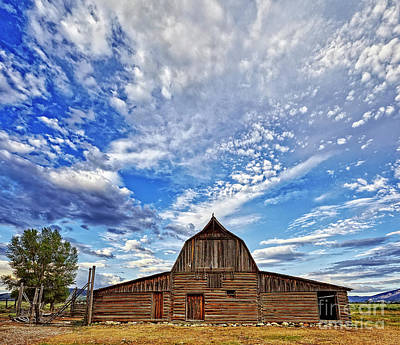 Juan Bosco Forest Animals Royalty Free Images - Clouds Above the Barn Royalty-Free Image by Matt Suess