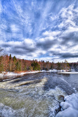 Photograph - Clouds Above The Lock And Dam by David Patterson