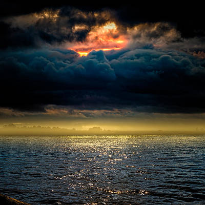 Photograph - Clouds Across The Water by Bob Orsillo