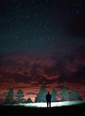 Photograph - Clouds And A Starry Sky by Bill Gabbert