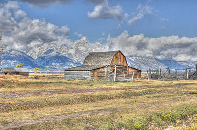 Photograph - Clouds And Barn by David Armstrong