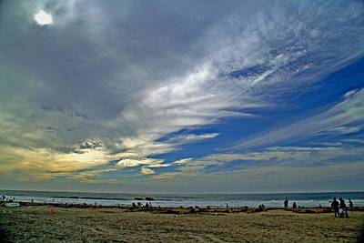 Art Print featuring the photograph Clouds And Blue by Christopher Woods