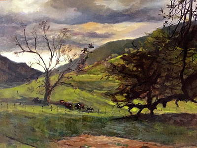 Painting - Clouds And Cattle by Joyce Snyder