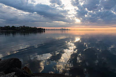 Photograph - Clouds And Clouds And Toronto Skyline At Sunrise by Georgia Mizuleva