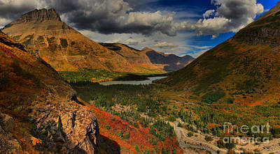 Bullheaded Photograph - Clouds And Colors In Swiftcurent Valley by Adam Jewell