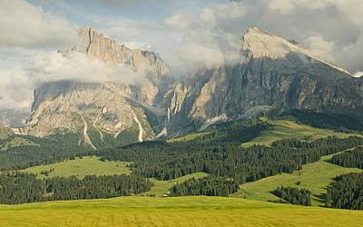 Photograph - Clouds And Light In The Dolomites by Stephen Taylor