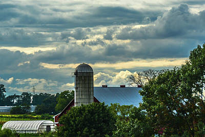Photograph - Clouds And Light On A Barn by Tana Reiff