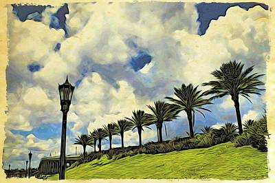 Photograph - Clouds And Line Of Palms by Alice Gipson