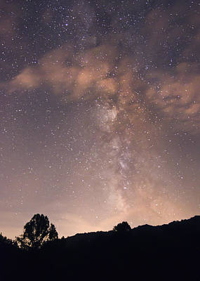 Art Print featuring the photograph Clouds And Milky Way by Wanda Krack