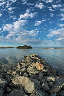 Photograph - Clouds And Mini-jetty by Greg Nyquist