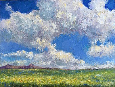 Painting - Clouds And Mustard On Fairview Road by Shannon Grissom