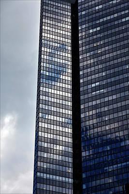 Clouds And Office Building Midtown  Art Print by Robert Ullmann