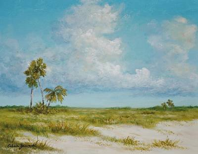 Painting - Clouds And Palms By Alan Zawacki by Alan Zawacki