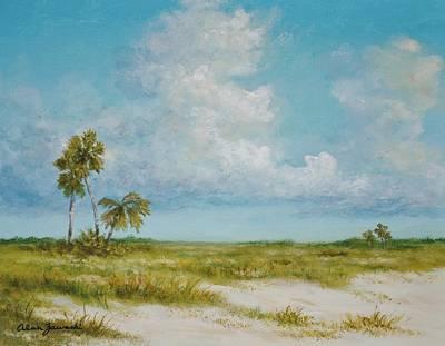 Clouds And Palms By Alan Zawacki Art Print