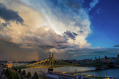 Photograph - Clouds And Rainbow Above The Danube by Judith Barath