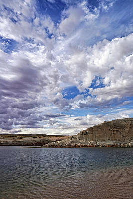 Photograph - Clouds And Ripples by Leda Robertson