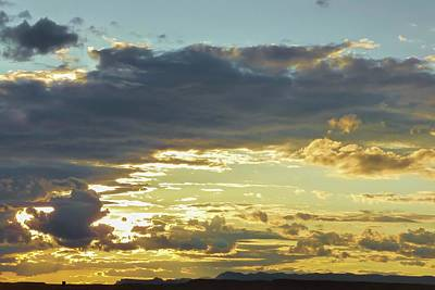 Photograph - Clouds And Setting Sun In Late Fall Afternoon by NaturesPix