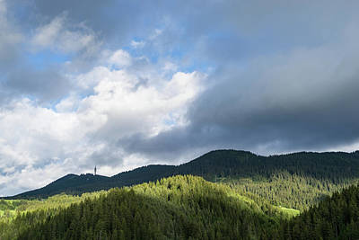 Photograph - Clouds And Shadows - Rhodope Mountain Range In Bulgaria by Georgia Mizuleva