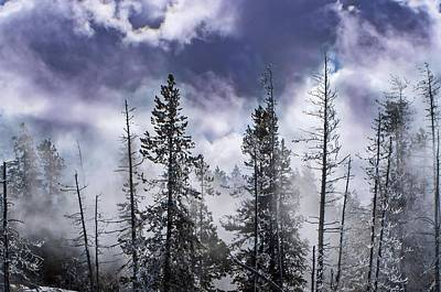 Photograph - Clouds And Snow Swirling by NaturesPix
