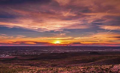 Elpaso Photograph - Clouds And Sunset by Subhadra Burugula