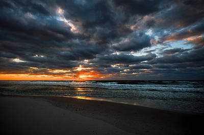 Photograph - Clouds And Surf At The Beach by Michael Thomas